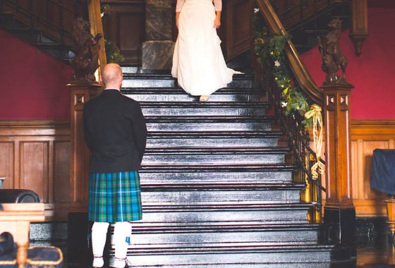 Fettes the Venue - Wedding - Bride & Groom in the Callover Hall