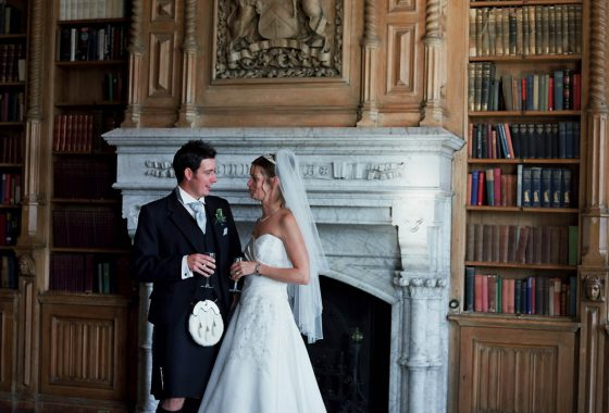 Fettes the Venue - Wedding - Bride & Groom in the Old Library 3