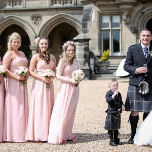 Fettes the Venue - Wedding Bride-Groom-Child & Bridesmaids Full Image